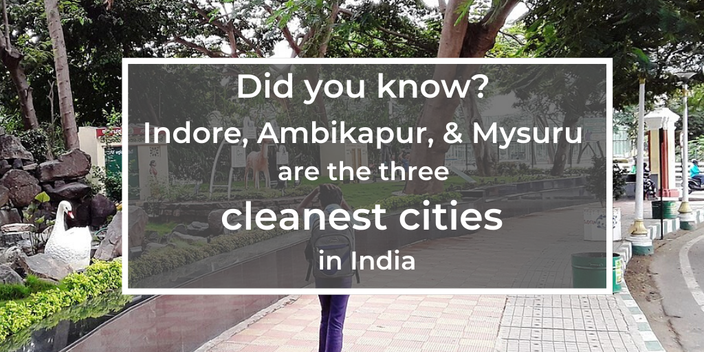 Cleanest cities in India