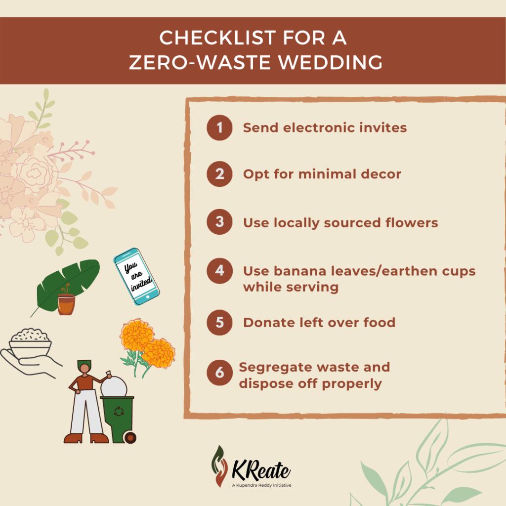 Checklist for a zero-waste wedding